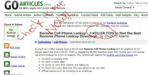 reverse cell phone lookup information
